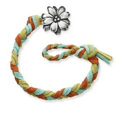 Sedona Woven Leather Bracelet with Wildflower Clasp at James Avery