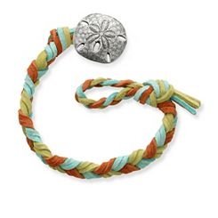 Sedona Woven Leather Bracelet with Sand Dollar Clasp at James Avery
