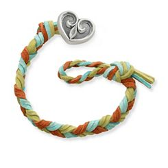 Sedona Woven Leather Bracelet with Scrolled Heart Clasp at James Avery
