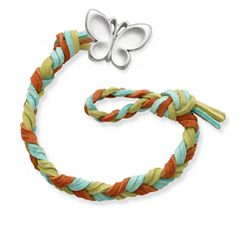 Sedona Woven Leather Bracelet with Butterfly Clasp at James Avery