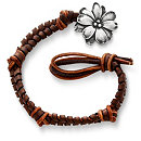 /ensemble/Mocha-Fishtail-Braided-Leather-Bracelet-with-Wildflower-Clasp/122.uts