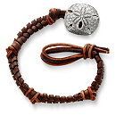 /ensemble/Mocha-Fishtail-Braided-Leather-Bracelet-with-Sand-Dollar-Clasp/124.uts