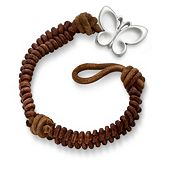 Cinnamon Rugged Fishtail Braided Leather Bracelet with Butterfly Clasp