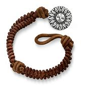 Cinnamon Woven Leather Bracelet with My Sunshine Clasp