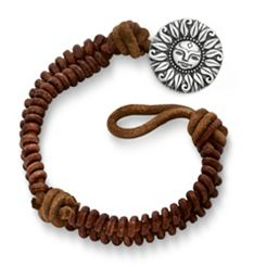 Cinnamon Rugged Fishtail Braided Leather Bracelet with My Sunshine Clasp at James Avery