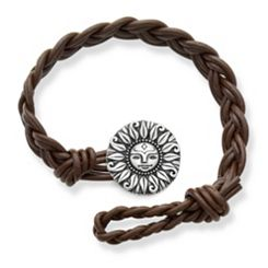 Dark Brown Double Cordovan Braided Leather Bracelet with My Sunshine Clasp at James Avery