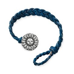 Blue Double Cordovan Braided Leather Bracelet with My Sunshine Clasp at James Avery