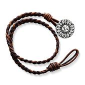 Cappuccino Woven Leather Bracelet with My Sunshine Clasp