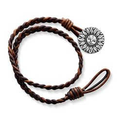 Cappuccino Wrapped Braided Leather Bracelet with My Sunshine Clasp at James Avery