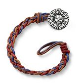 Vintage Americana Woven Leather Bracelet with My Sunshine Clasp
