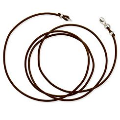 Brown Leather Cord with Sterling Silver Clasp at James Avery