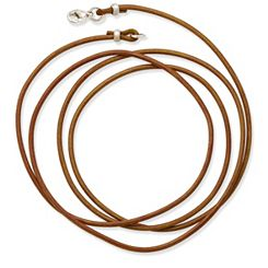 Light Brown Leather Cord with Sterling Silver Clasp at James Avery