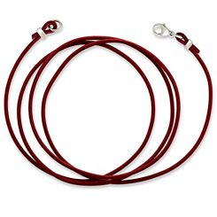Red Leather Cord with Sterling Silver Clasp at James Avery