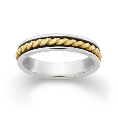 Gold Twist Silver Band James Avery