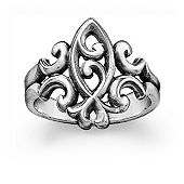Scrolled Ichthus Ring