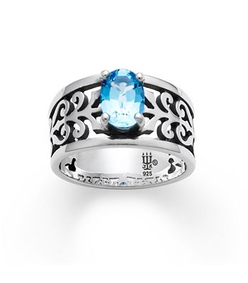 adoree ring with blue topaz james avery