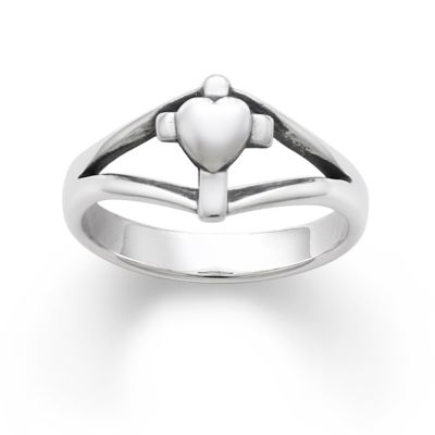 Cross with Heart Ring James Avery