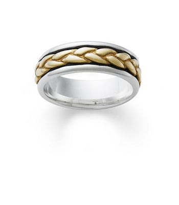 silver wedding band with gold braid james avery - James Avery Wedding Rings