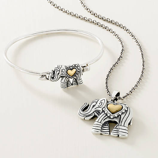View Larger Image of Adorned Elephant Hook-On Bracelet