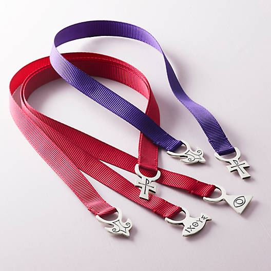 View Larger Image of Cross & Trinity Ribbon Bookmark