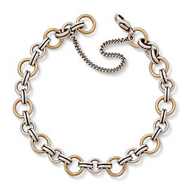 Gold & Silver Link Charm Bracelet