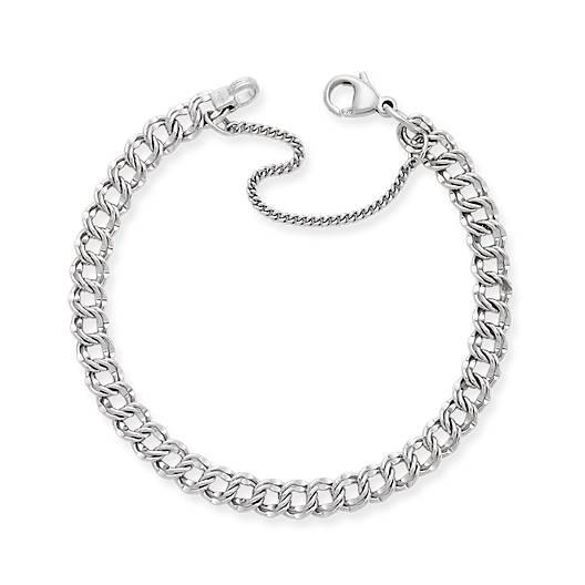 View Larger Image of Light Double Curb Charm Bracelet