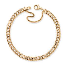 Light Double Curb Charm Bracelet