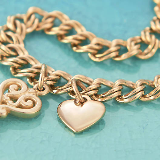 View Larger Image of Medium Double Curb Charm Bracelet