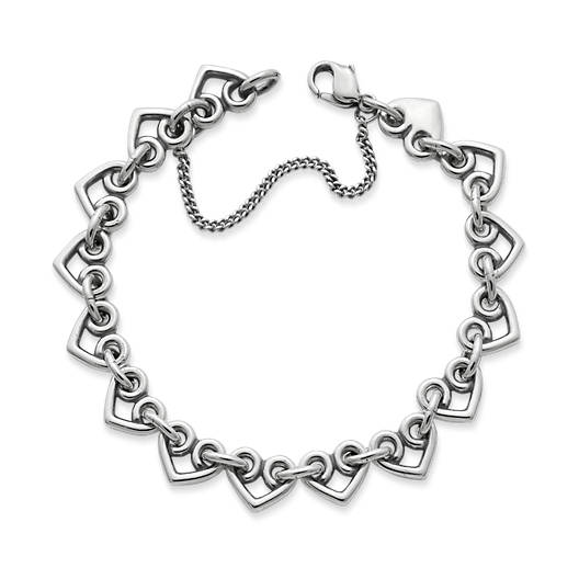 View Larger Image of Heart Link Charm Bracelet