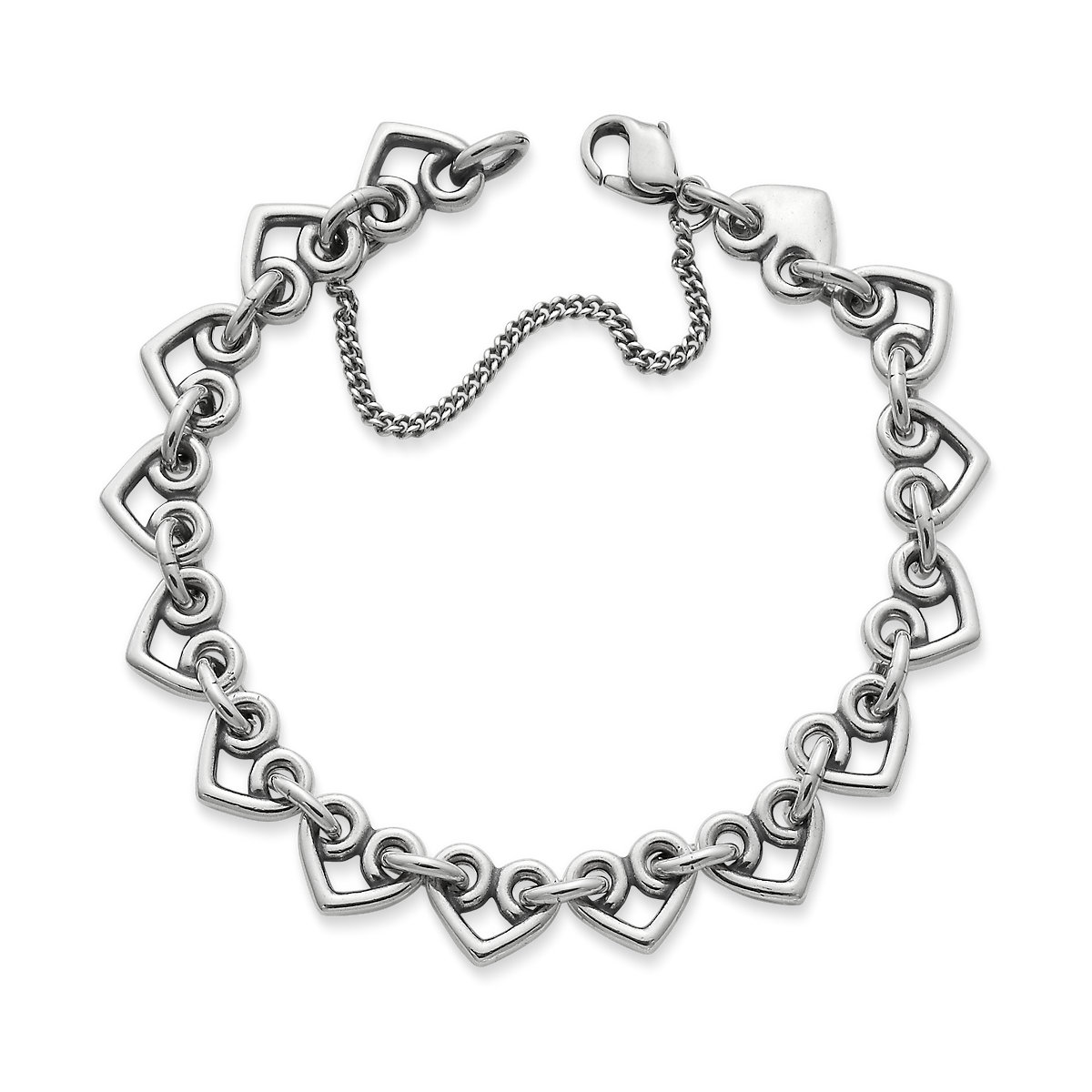 h charm bracelet teacher heart pave