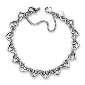 Heart Link Charm Bracelet