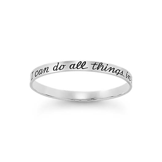 "View Larger Image of ""I Can Do All Things"" Bangle Bracelet"
