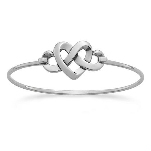 View Larger Image of Heart Knot Hook-On Bracelet