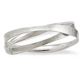 Forged Linked Bangle Bracelet