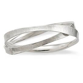 Forged Linked Bangle Bracelet