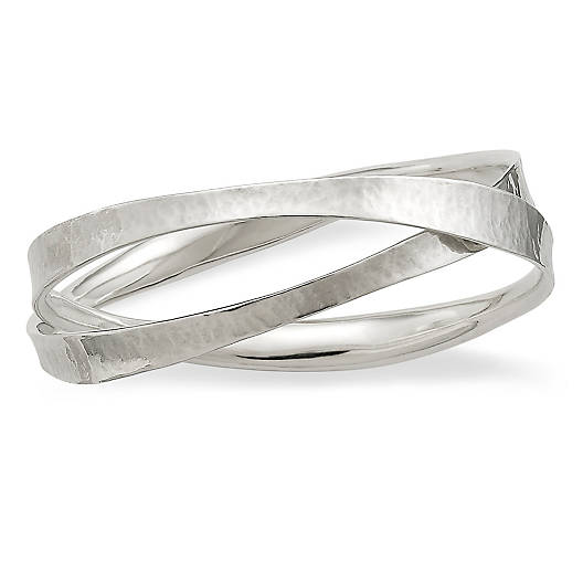 View Larger Image of Forged Linked Bangle Bracelet