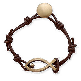 Leather Fishers of Men Bracelet