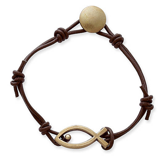 View Larger Image of Leather Fishers of Men Bracelet