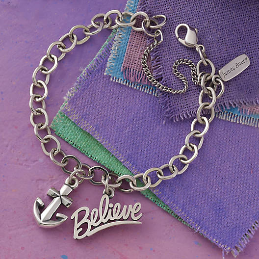 View Larger Image of Forged Link Charm Bracelet