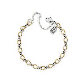 Gold & Silver Medium Twist Charm Bracelet
