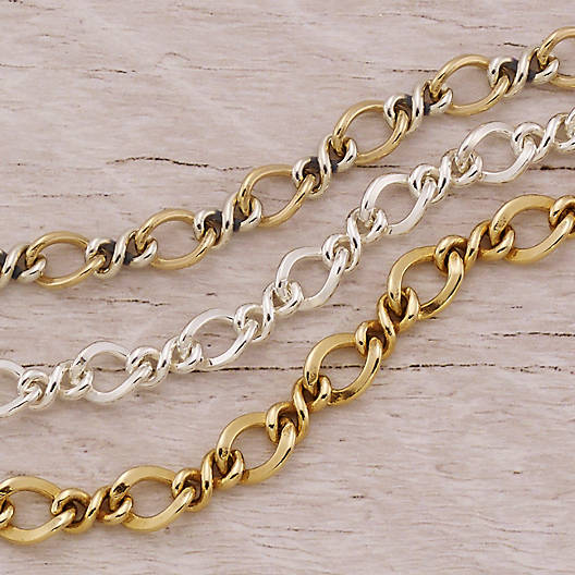 View Larger Image of Gold & Silver Medium Twist Charm Bracelet