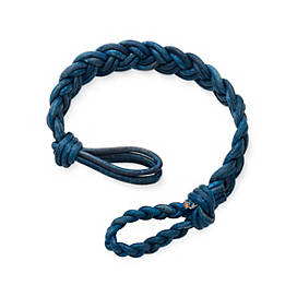Double Cordovan Braided Leather Bracelet