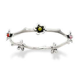 Spring Blossom Bangle Bracelet