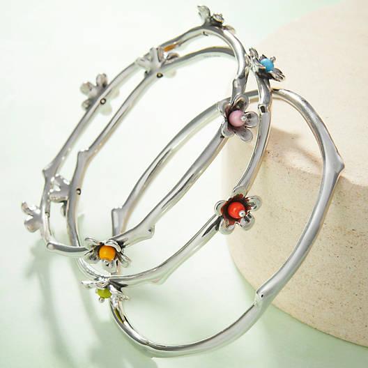 View Larger Image of Spring Blossom Bangle Bracelet