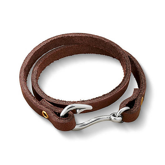View Larger Image of Fish Hook Leather Bracelet