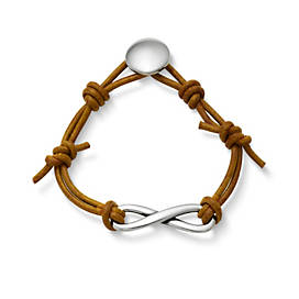 Infinity Leather Knot Bracelet