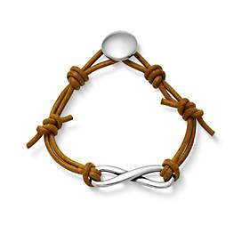 Infinity Leather Knot Bracelet
