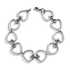 Open Heart Link Charm Bracelet