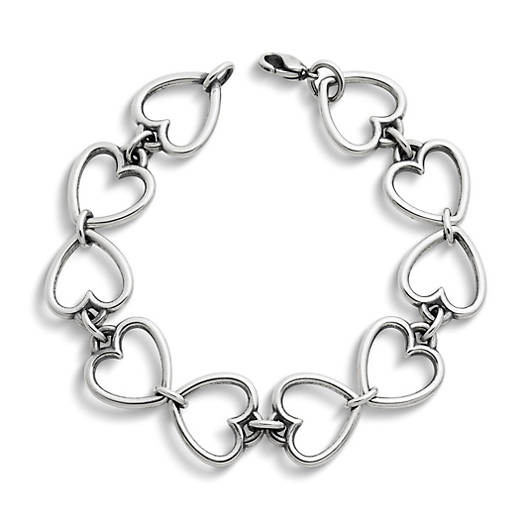 View Larger Image of Open Heart Link Charm Bracelet