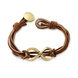Bronze Infinity Leather Knot Bracelet